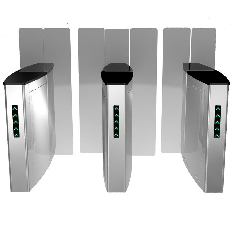 Stailess Steel Sliding Turnstile Security Systems, High Speed Gates Flap Barrier