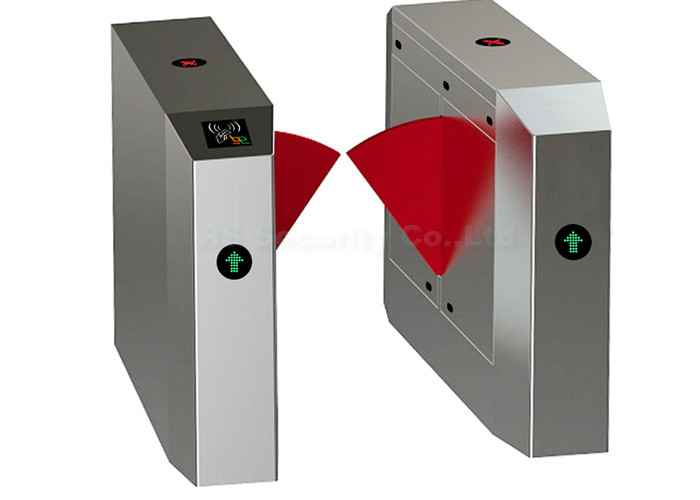 Intelligent High Speed Flap Barrier Gate, Half Height Turnstile Optical Sensor Gate