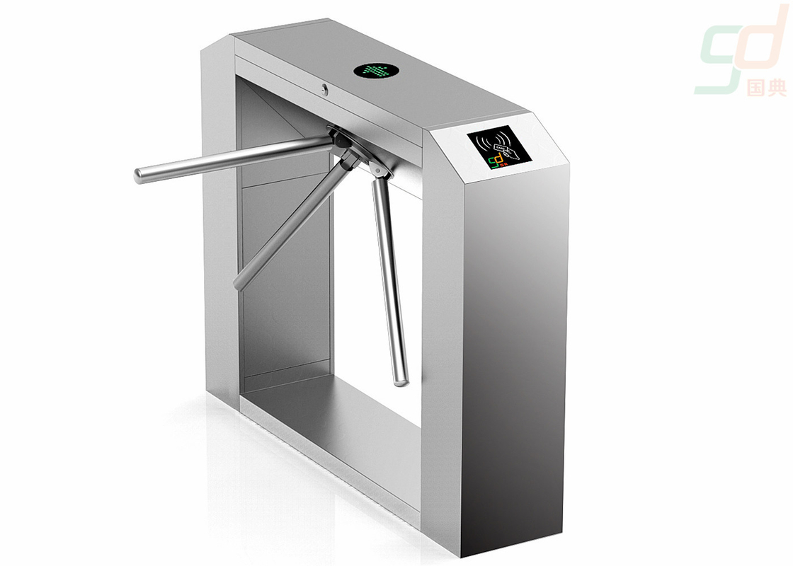 Automated security Waist Height Turnstiles 304 Stainless Steel Material