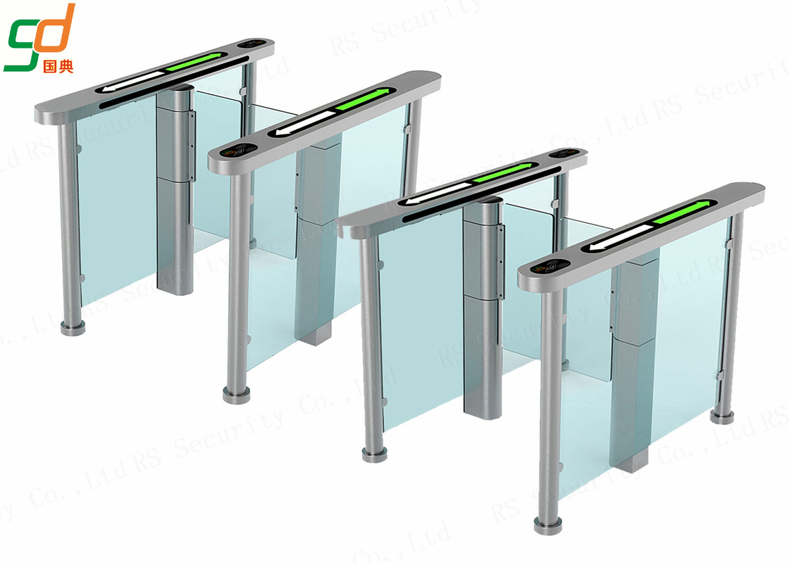 AC 220V Glass Electric Swing Gate Turnstiles 40 People / Min Normal Open