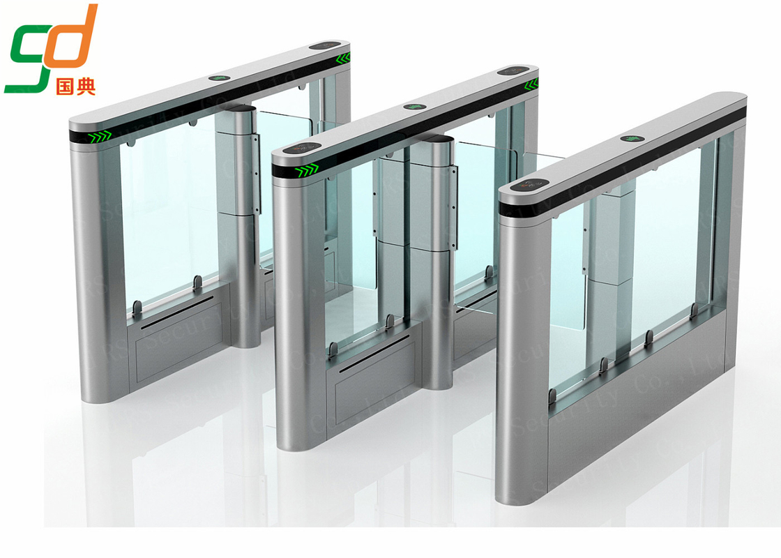 Customized Automatic Turnstiles IR Sensor Fast Speed Swing Barrier Gates