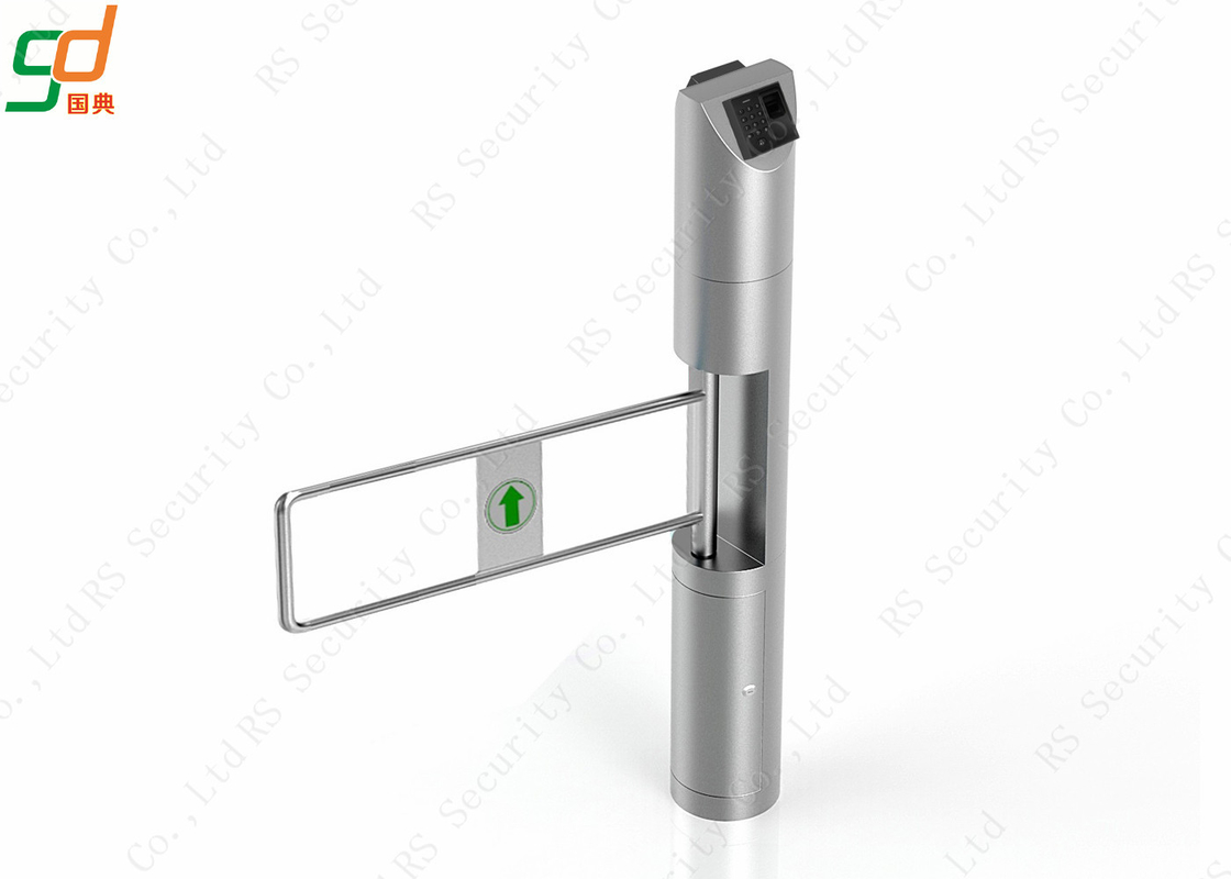 Fingerprint Supermarket Security Swing Barrier Gate Automatic Turnstiles